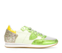 Sneakers mit Glitzerapplikation