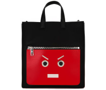"Shopper mit "" Faces""-Design"