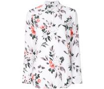 Seidenhemd mit Blumenmuster