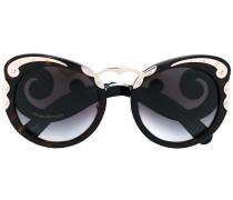Abgerundete Cat-Eye-Sonnenbrille