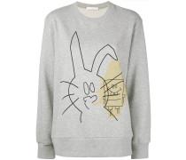 """Sweatshirt mit """"Kaninchen und SpongeBob""""-Print"""