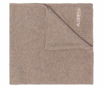 logo-print cashmere scarf