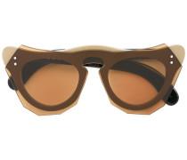 Geometrische Sonnenbrille - women - Acetat