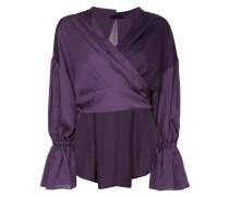 panelled wrap around blouse