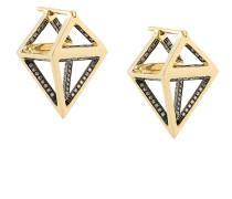 18kt 'Octahedron Dormeuse' Gelbgold-Ohrstecker mit Diamanten