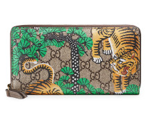 Bengal zip around wallet - men - Canvas/Leder