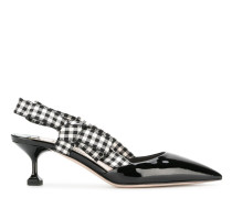gingham detail pumps