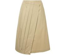 pleated layer midi skirt