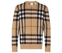 Nixon check-pattern cashmere jumper