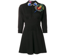 embellished appliqués mini dress