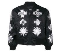 mirro and medallion bomber jacket