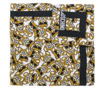 teddy bear motif scarf