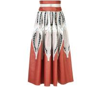 printed A-line skirt - women
