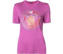 T-Shirt mit Paillettenstickerei