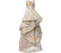 Organza-Robe mit Blumenmuster