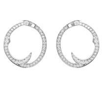 18kt Weißgoldcreolen mit Diamanten
