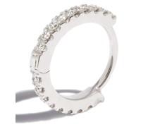 18kt Weißgoldohrring mit Diamanten
