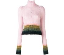 Gestreifter Pullover mit Schößchen