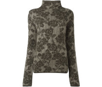 Jacquard-Pullover mit Blumen