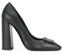 Court buckle pumps
