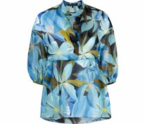 Gesmokte Bluse mit Blumen-Print