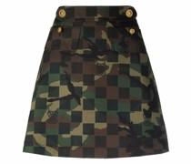 A-Linien-Rock mit Camouflage-Print