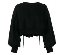 Cropped-Sweatshirt mit Ballonärmeln