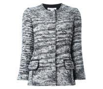 Tweed-Jacke mit Rundhalsausschnitt