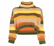 striped-pattern cropped jumper