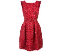 Tweed-Kleid mit Fransen