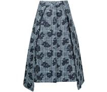 floral-print flared midi skirt