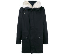 navy fur lined classic parka