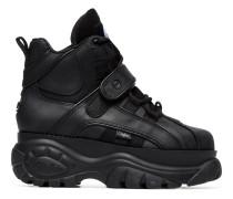 Black 1348 Platform Hi Top Sneakers