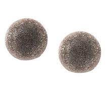 18kt white gold medium Sparkly Half Ball earrings