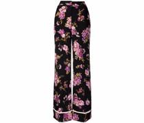 Weite Hose mit Blumen-Print