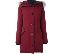 hooded mid coat