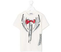 T-Shirt mit Anzug-Print