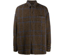 oversized checked overshirt