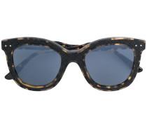 square frame woven detail sunglasses
