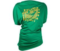 - Drapiertes T-Shirt mit Print - women