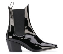 Max patent ankle boots