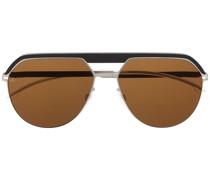 Pilotenbrille mit Kontrasteinsatz