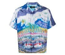 Seidenhemd mit Batikmuster