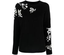 Pullover mit aufgestickten Blumen