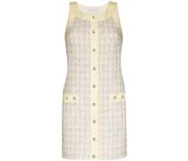 Tweed-Minikleid mit Knöpfen