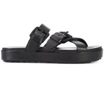 strappy slip-on sandals - women - Leder/rubber
