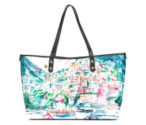 - Handtasche mit Landschafts-Print - women