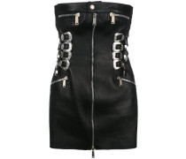 buckle and zip tube dress