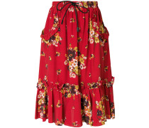 floral frill skirt