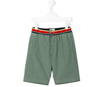 striped waistband shorts - kids - Baumwolle - 8